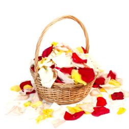 Mix the rose petals in the basket