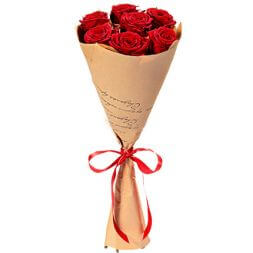 red roses 7 pcs