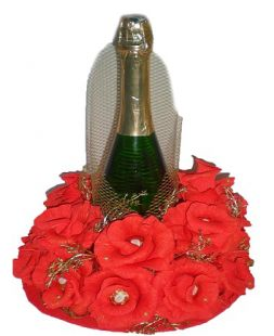 "Bouquet of chocolates with champagne ""Romantika"""