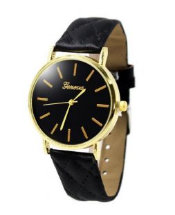 Watch Geneva with black watchband CO 006