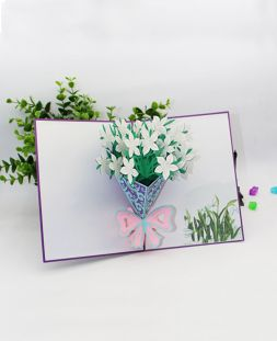 card with 3D bouquet