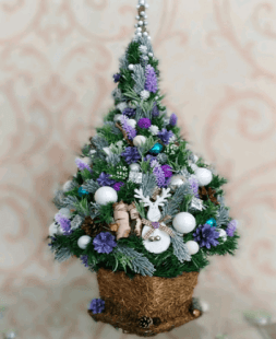 Christmas tree with toys 72 cm