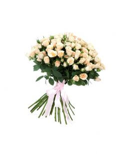 Bouquet of 35 creamy roses