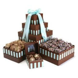 "chocolate tower ""For loved ones"""