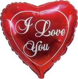 "foil balloon ""I love you"""