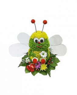 Dragonfly made of flowers