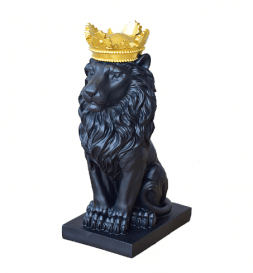 lion with a gold crown