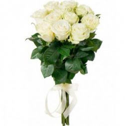 bouquet of white roses 40 cm