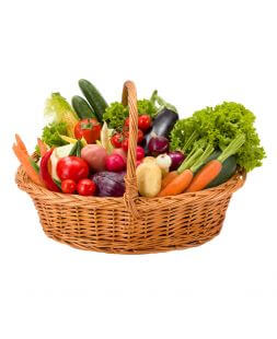 gift basket with vegetables
