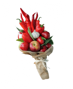 exclusive bouquet of pepper and apples