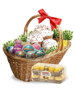 easter basket with surprise