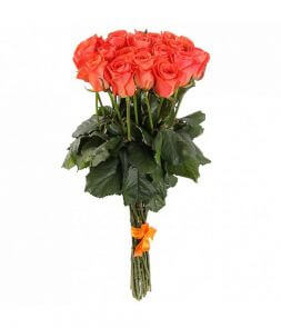 Premium bright orange roses ''Wow''