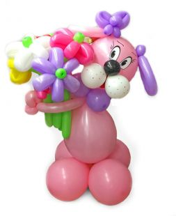 a dog made of balloons