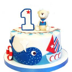 children cake with numerals on order