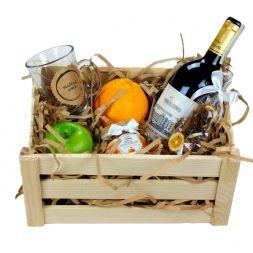 gift set with wine