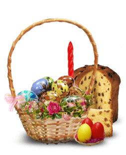 basket in an Easter gift
