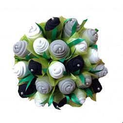 "Bouquet of socks ""Green garden"""