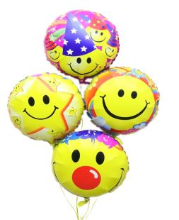foil balloons with Smile