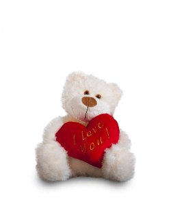 Bear Max with heart 30cm
