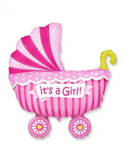 "Foil balloon ""Baby carriage"""