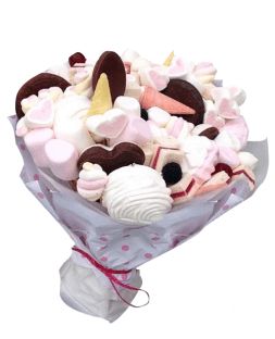 bouquet of cookies and marshmallows