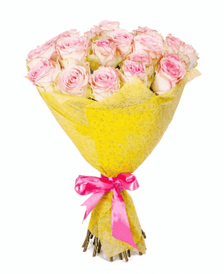 charming bouquet of soft pink roses