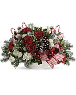 Christmas bouquet with candy