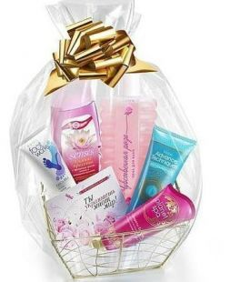 basket with cosmetic Planeta of Spa
