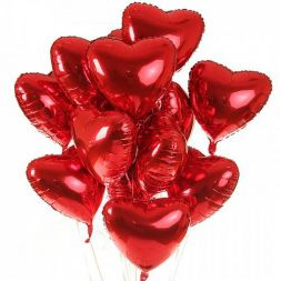 "Foil balloon with helium ""Heart"""