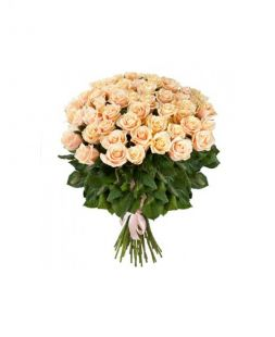 bouquet of 17 сreamy roses 50 cm