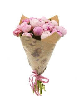 charming bouquet of pink peonies