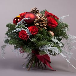 beautiful bouquet New Year Tenderness