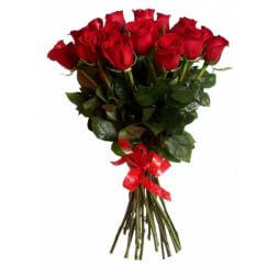 bouquet of 25 red roses 40cm