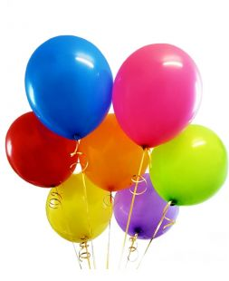 helium balloons of different colors