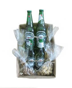 a gift box for man with beer