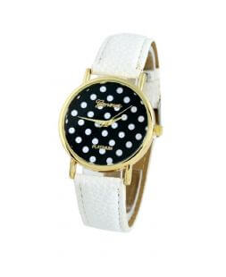 women watch with white watchband CO 020