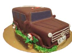 cake in the form of the car