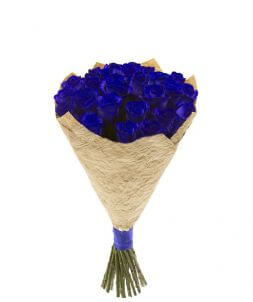 bouquet of 27 blue roses