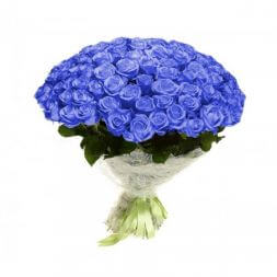 bouquet of 39 blue roses