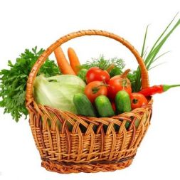 Basket with vegetables Health