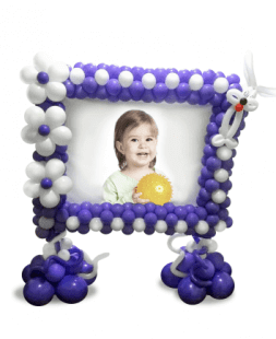 Balloon frame with photo
