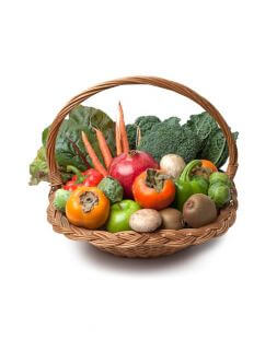 Basket of fruits and vegetables 4