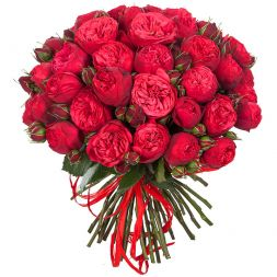 bouquet of 55 red roses