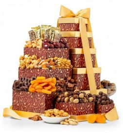 tower with nuts and chocolate