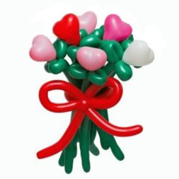 """For those who love"" bouquet of balloons"