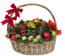 christmas basket from Santa Claus