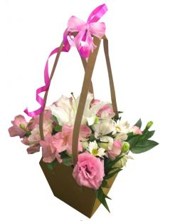 basket of flowers for beloved
