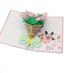 beautiful gift card with flowers