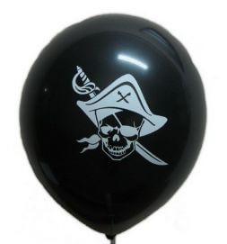 Black ball with a pirate