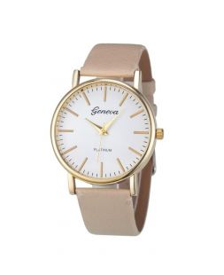 Women watch with beige watchband CO 004